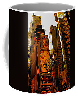 Times Square In Manhattan Coffee Mug