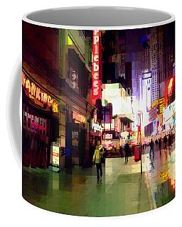 Times Square New York - Nanking Restaurant Coffee Mug by Miriam Danar