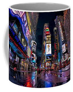 Times Square New York City The City That Never Sleeps Coffee Mug by Susan Candelario