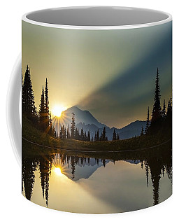 Tipsoo Rainier Sunstar Coffee Mug by Mike Reid