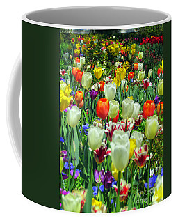 Tiptoe Through The Tulips Coffee Mug by Elizabeth Dow