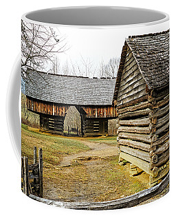 Coffee Mug featuring the photograph Tipton Oliver Cantilever Barn by Lars Lentz