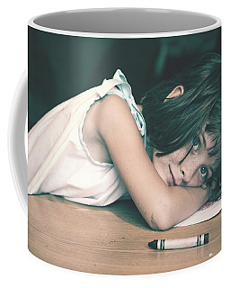 Tired Girl By Jan Marvin Coffee Mug
