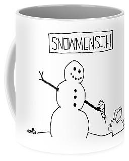 Title: Snowmensch Snowman Hands His Carrot Nose Coffee Mug