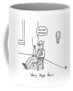 Title: Very High Noon. A Cowboy Looking Coffee Mug