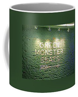 Coffee Mug featuring the photograph To The Green Monster Seats by Barbara McDevitt