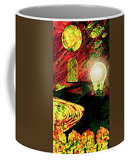 Coffee Mug featuring the mixed media To The Light by Ally  White