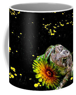 Coffee Mug featuring the photograph Toad In A Lions Den by Mike Breau