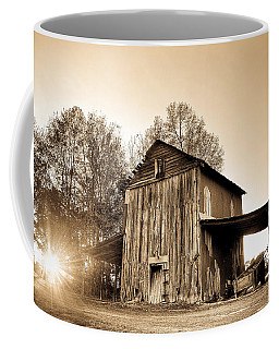 Tobacco Barn In Sunset Coffee Mug