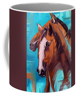 Coffee Mug featuring the painting Together 1 by Go Van Kampen
