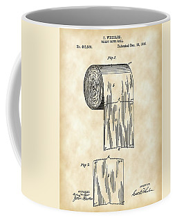Toilet Paper Roll Patent 1891 - Vintage Coffee Mug