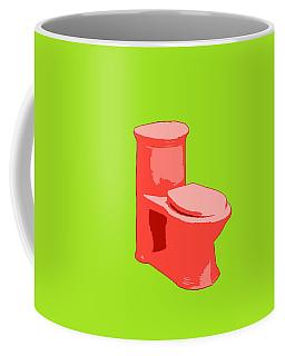 Coffee Mug featuring the painting Toilette In Red by Deborah Boyd