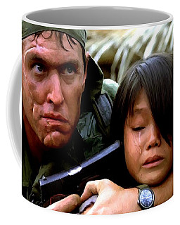 Tom Berenger In The Film Platoon - 1 Coffee Mug