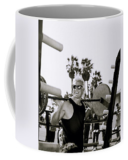 Tom Platz In Los Angeles Coffee Mug by Shaun Higson