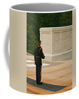Coffee Mug featuring the photograph Tomb Of The Unknown Soldier by Kim Hojnacki