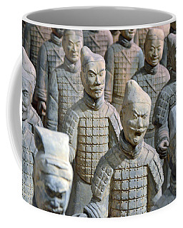 Coffee Mug featuring the photograph Tomb Warriors by Robert Meanor