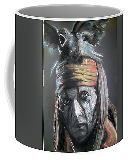 Coffee Mug featuring the pastel Tonto by Peter Suhocke