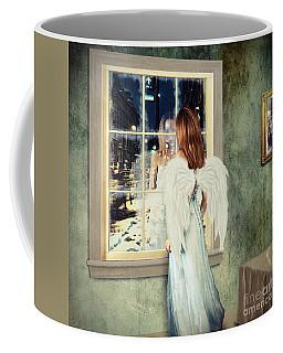Too Cold For Angels Coffee Mug by Linda Lees