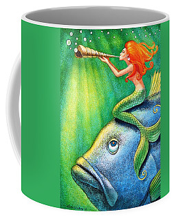 Toot Your Own Seashell Mermaid Coffee Mug