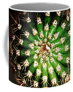 Coffee Mug featuring the photograph Top View Of A Cactus Plant by Jennifer Muller