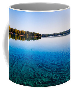 Coffee Mug featuring the photograph Torch Lake Morning by Lars Lentz