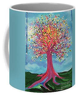 Coffee Mug featuring the painting Tori's Tree By Jrr by First Star Art