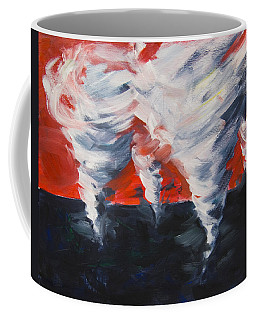 Coffee Mug featuring the painting Apocalyptic Dream by Yulia Kazansky