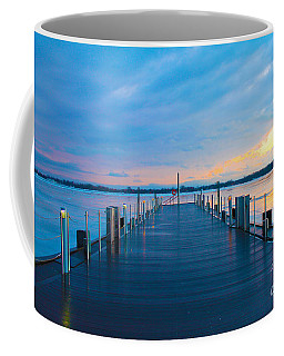 Coffee Mug featuring the photograph Toronto Pier During A Winter Sunset by Nina Silver