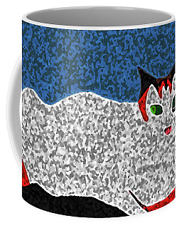 Coffee Mug featuring the painting Totsy by Anita Dale Livaditis