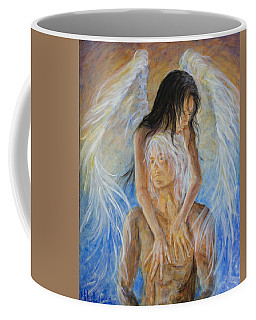 Touch Of An Angel Coffee Mug by Nik Helbig
