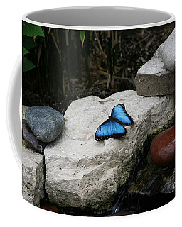 Touch Of Blue Coffee Mug by Judy Whitton