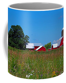 Coffee Mug featuring the photograph Touch Of Color by Dave Files