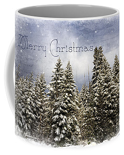 Touch Of Winter - Merry Christmas Coffee Mug by Beve Brown-Clark Photography