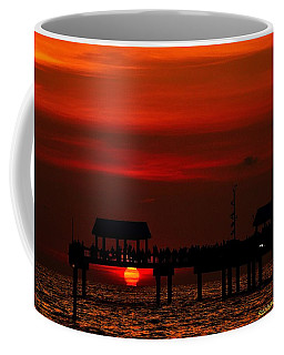Coffee Mug featuring the photograph Touching The Sunset by Richard Zentner