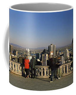 Tourists At An Observation Point Coffee Mug