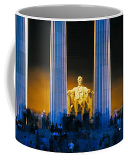 Tourists At Lincoln Memorial Coffee Mug