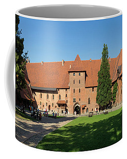 Tourists At Malbork Castle, Malbork Coffee Mug