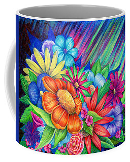 Coffee Mug featuring the painting Toward The Light by Nancy Cupp