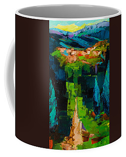 Coffee Mug featuring the painting Toward The Tuscan Village by Elise Palmigiani
