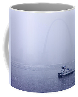 Towboat Working In The Snow St Louis Coffee Mug by Garry McMichael