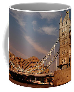 Tower Bridge Sunset Coffee Mug by Jonah  Anderson