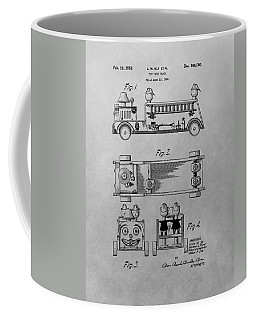 Toy Fire Engine Patent Drawing Coffee Mug