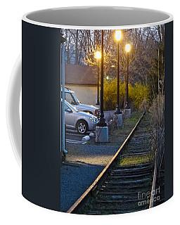 Tracks At Dusk Coffee Mug