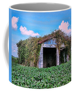 Coffee Mug featuring the photograph Tractor Shack by Victor Montgomery