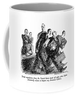 Trade Negotiators From The United States Break Coffee Mug
