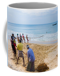 Hoisting The Nets Coffee Mug