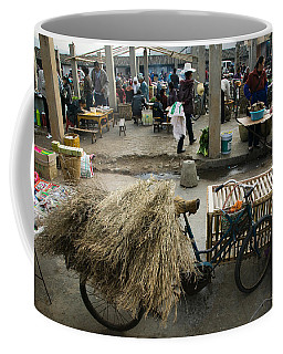 Traditional Town Market With Grass Coffee Mug