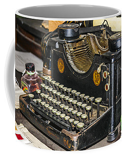 Coffee Mug featuring the photograph Traditional Typewriter by Susan Leonard