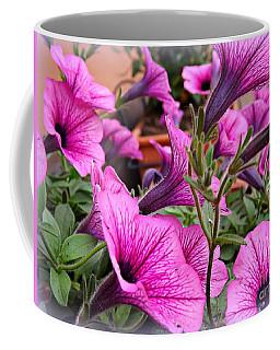 Trailing Petunias Coffee Mug by Clare Bevan