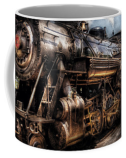 Train - Engine -  Now Boarding Coffee Mug by Mike Savad
